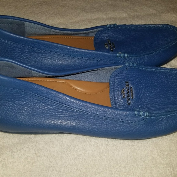 coach blue loafers